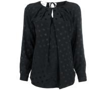 polka dot draped cut out blouse