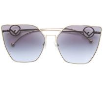 Oversized-Sonnenbrille im Cat-Eye-Design