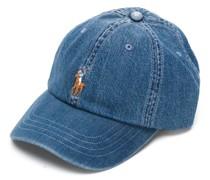 Jeans-Baseballkappe mit aufgesticktem Logo