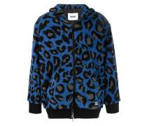 Fleece-Jacke mit Animal-Print