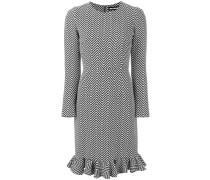 Kleid mit Chevronmuster