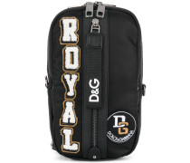 Royal appliqué shoulder bag