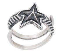 'Double Large Arrow Star' Ring