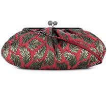 leaf jacquard purse bag