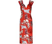 Schmales Kleid mit Blumen-Print