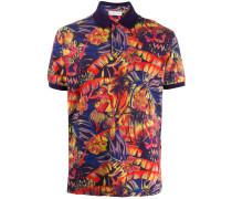 Poloshirt mit tropischem Print