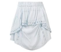 high-waisted layered skirt
