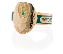 18kt 'Protection Cigarband' Gelbgoldring