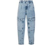 Cropped-Jeans mit Acid-Wash-Effekt