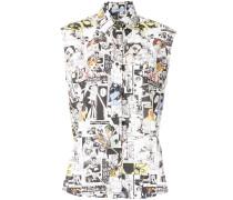 cartoon print shirt