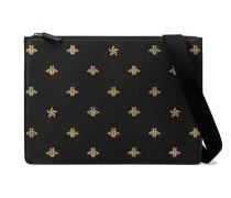 Bee Star leather messenger