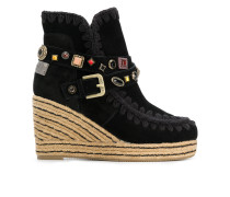 Eskimo studded wedge ankle boots