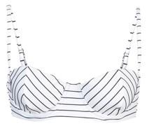 striped balconette bikini top
