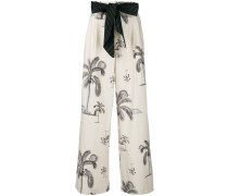 palm tree print trousers