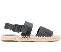 Flache Slingback-Sandalen