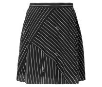 pinstriped logo skirt