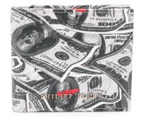 Portemonnaie mit Dollar-Print