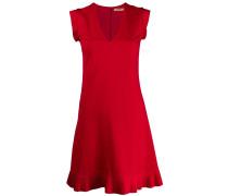 Kurzes Kleid mit plissiertem Saum