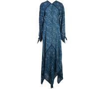 Langes Kleid mit Paisley-Print