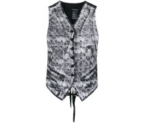 print effect waistcoat