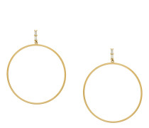 Baguette Bar hoop earrings