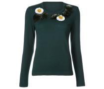 Pullover mit Blütenapplikation