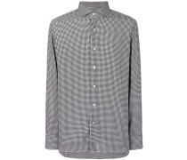 tailored houndstooth print shirt
