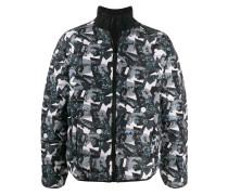 abstract print padded jacket