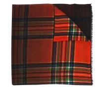 Intarsien-Schal mit Karomuster