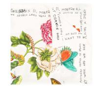 Seidenschal mit Blumen-Print