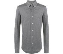 Meliertes Button-down-Hemd