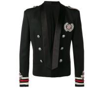 semi-embroidered wool jacket