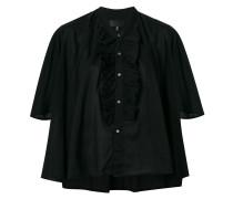 ruffle detailed shortsleeved shirt