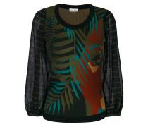 Intarsien-Pullover mit Mustermix
