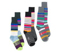 Set aus drei Paar Socken