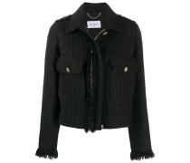 Bouclé-Jacke mit Reißverschluss