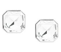 Eckige Kristall-Ohrclips
