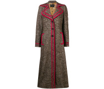 Mantel mit Kontrastborten