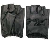 Fingerlose Handschuhe mit Logo