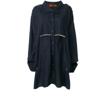cut-out shoulder embellished shirt