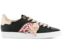 embellished lace-up sneakers