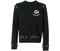 Sweatshirt mit Monster-Stickerei