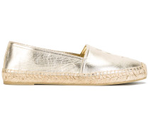 Espadrilles im Metallic-Look
