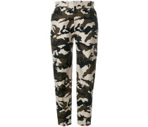 camouflage tailored trousers