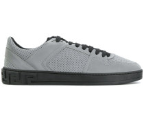 embossed lace-up sneakers