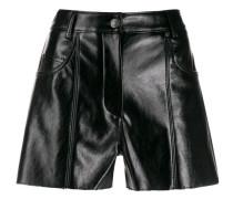 Shorts im Leder-Look