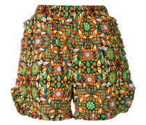 Shorts mit gerüschteten Details