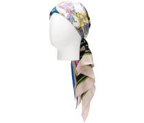 floral print silk turban
