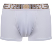 Shorts mit strassverziertem Greca-Bund