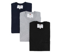 double pocket T-shirt 3 pack